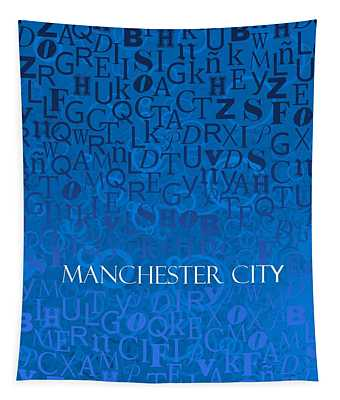 Blue Manchester Tapestry