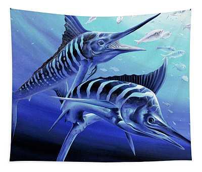 Blue Marlins Tapestry