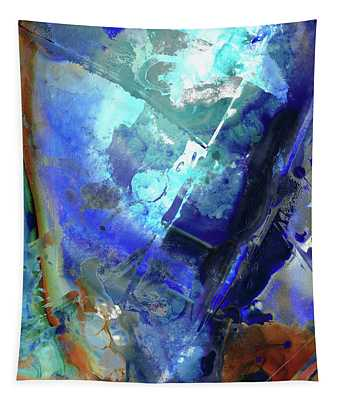 Blue Modern Abstract Art - After The Storm - Sharon Cummings Tapestry