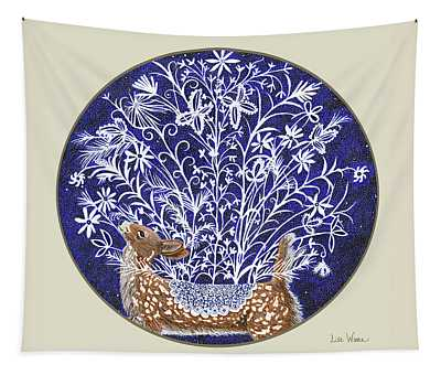 Blue Period Art Featuring A Fawn Tapestry