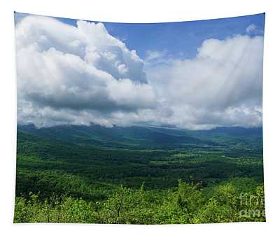 Blue Ridge Mountains Fine Day Tapestry
