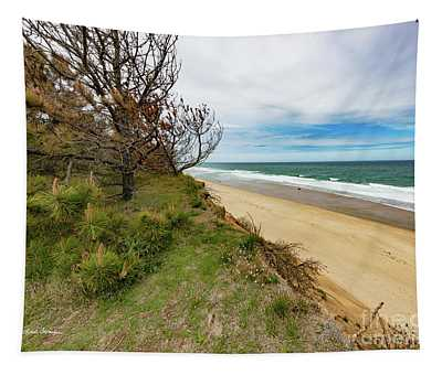 Blue Sky Nauset Beach Cape Cod Tapestry