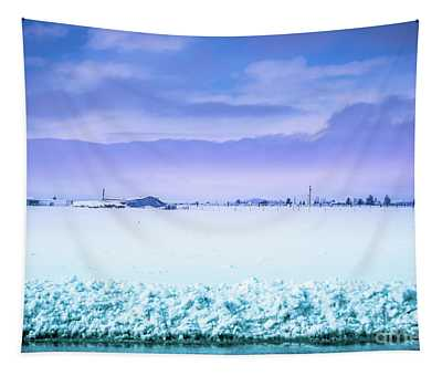 Tapestry featuring the photograph Blue Sky, White Field by Matthew Nelson