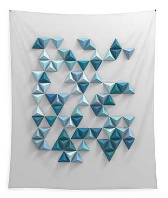 Blue Triangles Tapestry