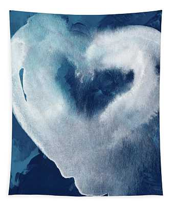 Blue Valentine- Art By Linda Woods Tapestry