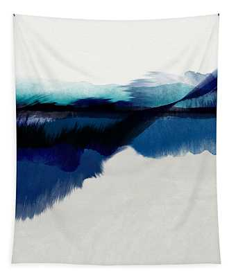 Blue Vista- Art By Linda Woods Tapestry