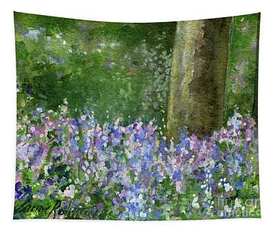 Bluebells Under The Trees Tapestry