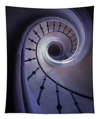 Tapestry featuring the photograph Blueberry Spiral Staircase by Jaroslaw Blaminsky