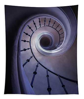 Blueberry Spiral Staircase Tapestry