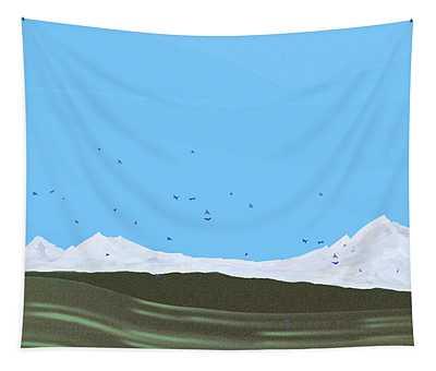 Bluebirds Return Tapestry