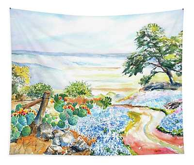 Bluebonnets - Texas Hill Country In Spring Tapestry
