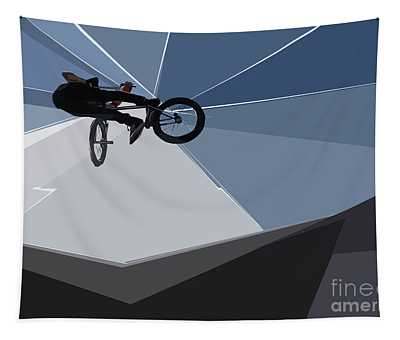 Bmx Biking  Tapestry