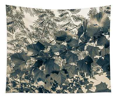 Bnw Leaves  Tapestry