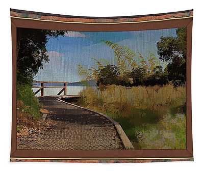 Boardwalk To The Shore Tapestry