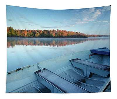 Boat On The Lake Tapestry
