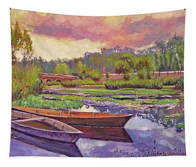 Boats Among The Lilies Tapestry