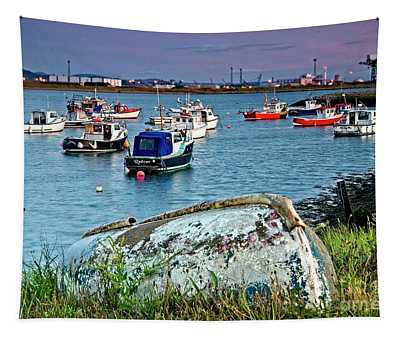 Boats In Harbour, South Gare Tapestry