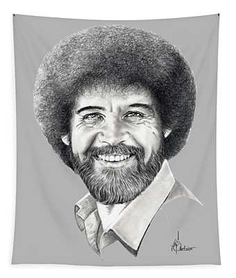 Bob Ross Drawings Wall Tapestries
