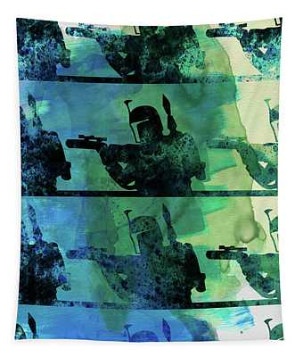 Boba Fett Collage Watercolor 1 Tapestry