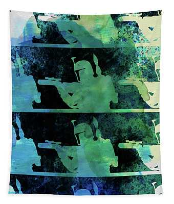 Boba Fett Collage Watercolor 2 Tapestry