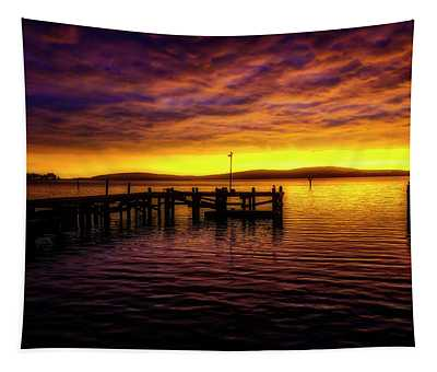 Bodega Bay Gorgeous Sunset Tapestry