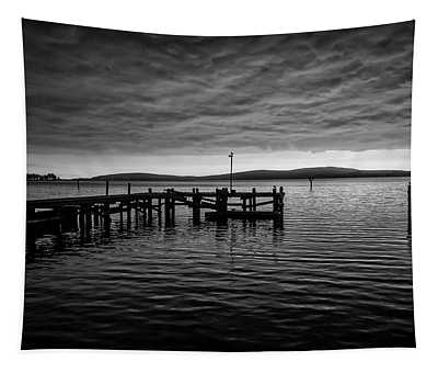Bodgea Bay Black And White Tapestry