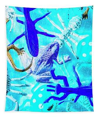Bohemian Blue Tapestry