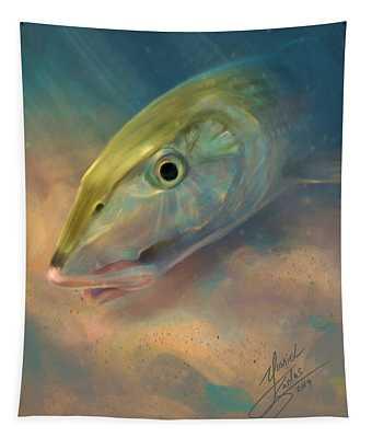 Bonefish Portrait Tapestry