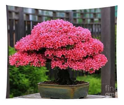 Bonsai Pink Azalea View Tapestry
