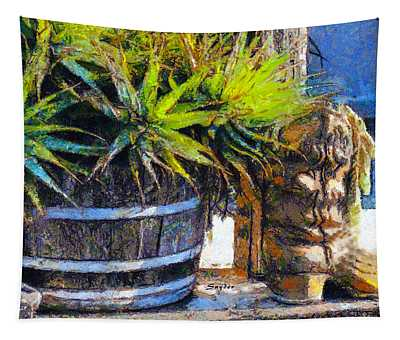 Boots And Barrels Detail Tapestry