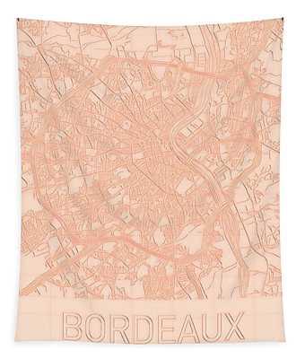Bordeaux Blueprint City Map Tapestry