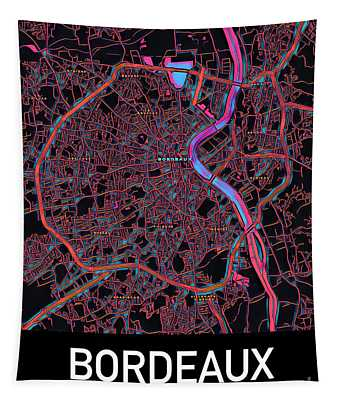 Bordeaux City Map Tapestry
