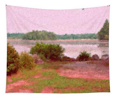 Borderland Pond With Monet's Palette Tapestry