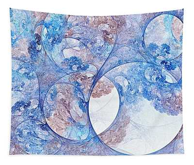 Boreal Canopy Abstract Blue Tapestry