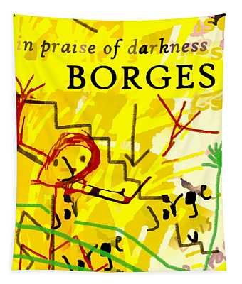 Borges Darkness Poster  Tapestry