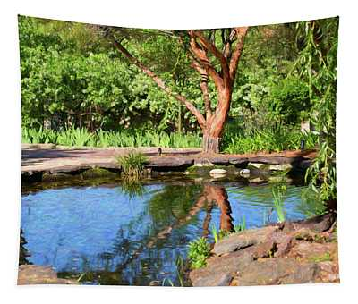 Botanical Garden - Reflecting Growth - By Omaste Witkowski Tapestry
