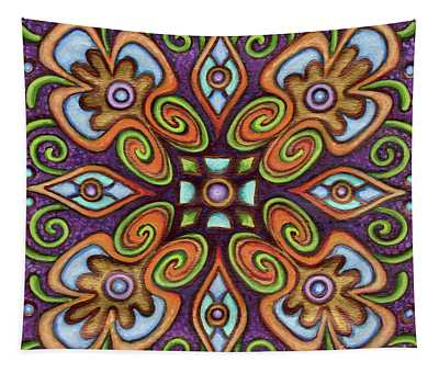 Botanical Mandala 11 Tapestry