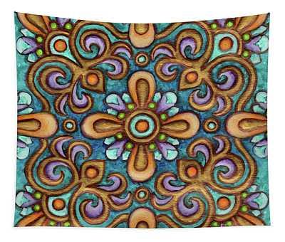 Botanical Mandala 7 Tapestry