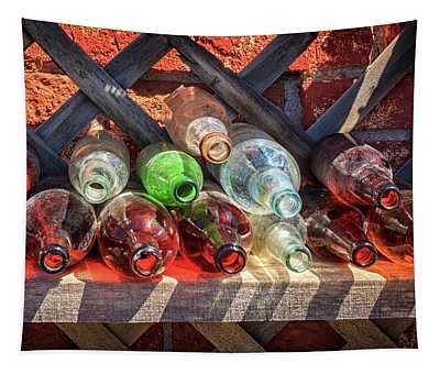 Bottles On A Shelf Tapestry