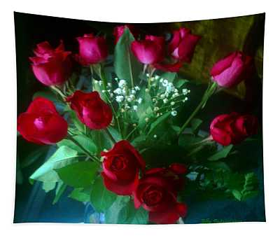 Bouquet Of Red Roses Tapestry