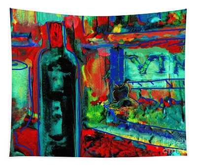 Boutique Du Chat Et Vins Francais  Tapestry
