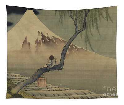 Boy Viewing Mount Fuji, 1839 Tapestry