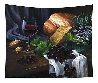 Bread And Wine Tapestry