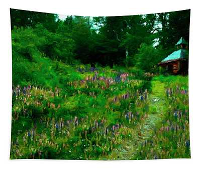 Breeze On The Lupine Field Tapestry
