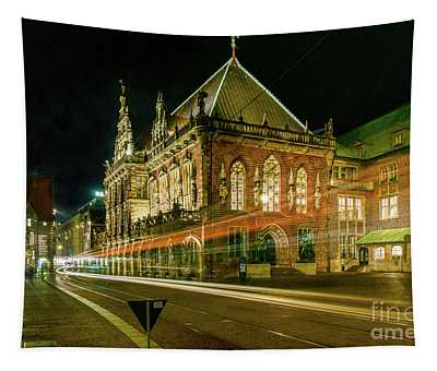Bremen At Night Tapestry