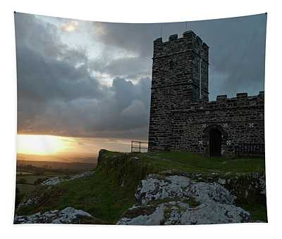 Brentor Church At Sunset II Tapestry