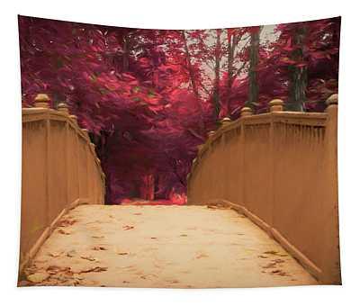 Bridge In The Woods Tapestry