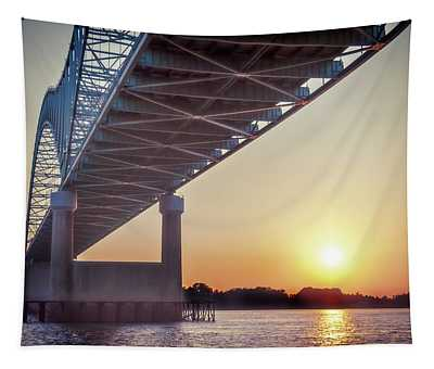 Bridge Over Mississippi River Tapestry