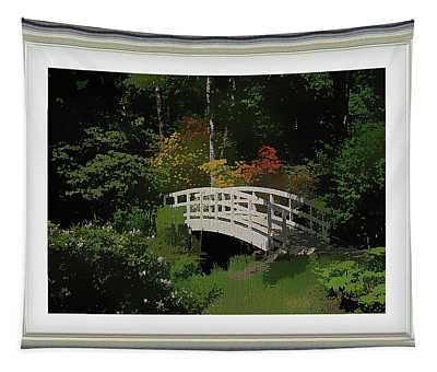 Bridge To The Azalea Gardens Tapestry