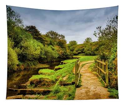 Bridge With Falling Colors Tapestry